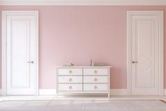 Hallway.3d rendering. Royalty Free Stock Image