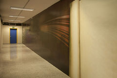 Hallway with emergency exit Stock Photo