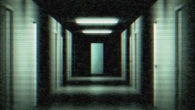 Hallway of Fear. Hitchcock Zoom into a hallway with tv noise