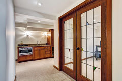Hallway with french window to office room Royalty Free Stock Photography