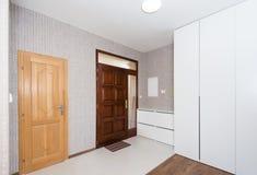 Hallway and front door Stock Image