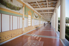 Hallway, Getty Villa, Malibu, California Stock Photography