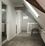 Hallway haze. Hall way in historic home with smoke haze Royalty Free Stock Images