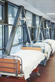 Hallway hospital beds Royalty Free Stock Photography
