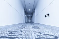 Hallway in hotel and carpet Stock Photo
