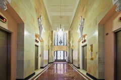 Hallway in Hotel Hilton Moscow Leningradskaya Royalty Free Stock Images