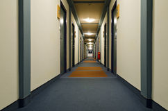 Hallway at a hotel Royalty Free Stock Photo
