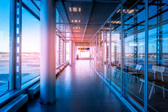 Hallway In Building With Glass Royalty Free Stock Image