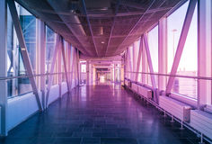 Hallway In Building With Glass Royalty Free Stock Photography