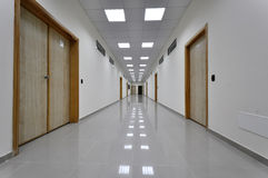 A hallway. In an institution Royalty Free Stock Photo