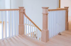 Free Hallway Interior With Hardwood Floor View Of Wooden Stairs Stock Images - 155069044