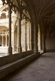 Hallway of Jeronimos Monastery in Lisbon Royalty Free Stock Photo
