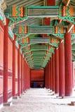 Hallway in the korean ancient palace Stock Photos