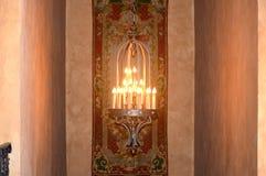 Hallway light fixture. With glow Stock Image