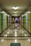 Hallway Lined with Lockers Royalty Free Stock Photos