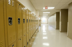 Hallway with Lockers Royalty Free Stock Photography