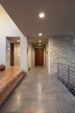 Hallway in Luxury Home. Corridor in fancy new home stock photos