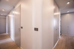 Hallway in luxury house Royalty Free Stock Image