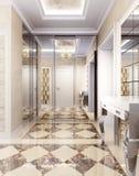 Hallway in luxury style Stock Image