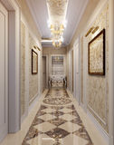Hallway in luxury style Stock Photography