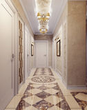 Hallway in luxury style Stock Photos