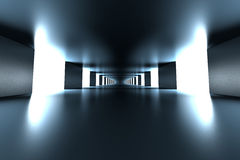 Hallway. A modern hallway interior. 3d illustration Royalty Free Stock Images