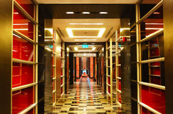 The hallway at modern luxury hotel royalty free stock images