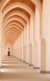Hallway of a mosque in Bir Ali, Medina Royalty Free Stock Photography