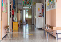 Hallway of a nursery for children Royalty Free Stock Images