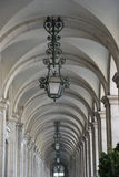 Hallway of old historic building in Lisbon, Portugal Royalty Free Stock Photo