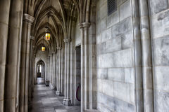 Hallway in an old medieval castle Royalty Free Stock Images