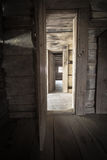 Hallway With Open Doors And Sunlight Royalty Free Stock Images