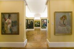 Hallway of paintings by Joaqu�n Sorolla y Bastida (1863-1923) as seen in The Sorolla Museum, Madrid, Spain Stock Photography