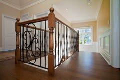 Hallway railing Stock Image
