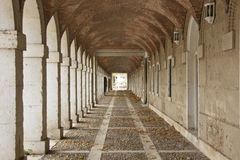 Hallway in Royal Palace of Aranjuez (Spain) Stock Image
