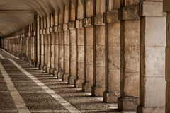 Hallway in Royal Palace of Aranjuez (Spain) Stock Photo