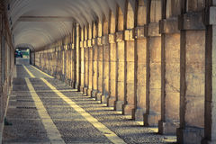 Hallway in Royal Palace of Aranjuez (Spain) Royalty Free Stock Images