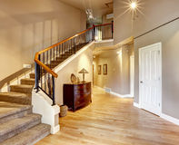 Hallway with staircase in luxury house Royalty Free Stock Photography