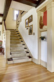 Hallway with staircase in old american house Royalty Free Stock Photo