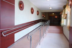 Hallway with stairs Royalty Free Stock Images