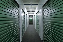 Hallway storage units royalty free stock images