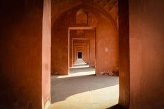 Hallway at the Taj Mahal in India Stock Photo