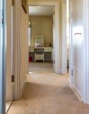 Hallway. Upstairs hallway of a suburban home Royalty Free Stock Photos