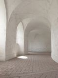 Hallway with a vaulted arch Stock Photography