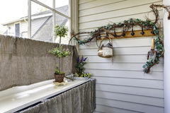 Hallway Window Treatment Idea Royalty Free Stock Photo