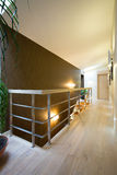 Hallway with wooden floor Stock Image