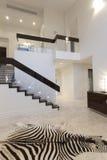 Hallway with zebra carpet Royalty Free Stock Photo