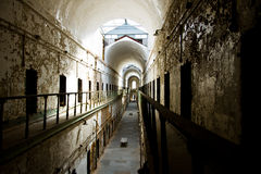 Hallways of Eastern State Penitentiary, PA Royalty Free Stock Photography