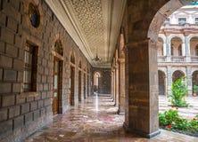 Hallways of a public building. In downtown Cuenca, Ecuador Royalty Free Stock Photos