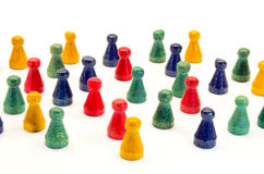 Halma3008b. Illustration of Chinese checkers figures Royalty Free Stock Photos